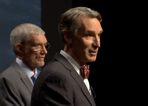 Ken Ham, left, and Bill Nye, debate science and creationism.