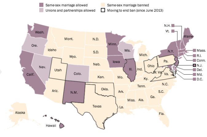 map of states marriage equality