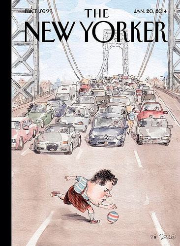 New Yorker cover.Chris Christie