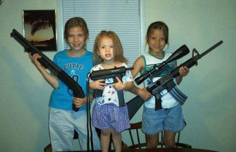 white kids guns