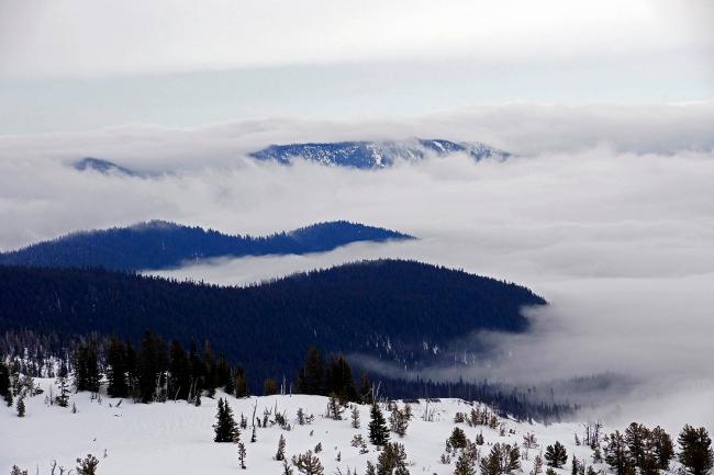 Fog over White River Canyon