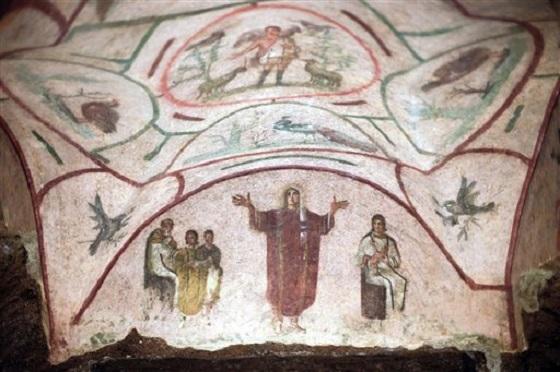 catholic women priest fresco