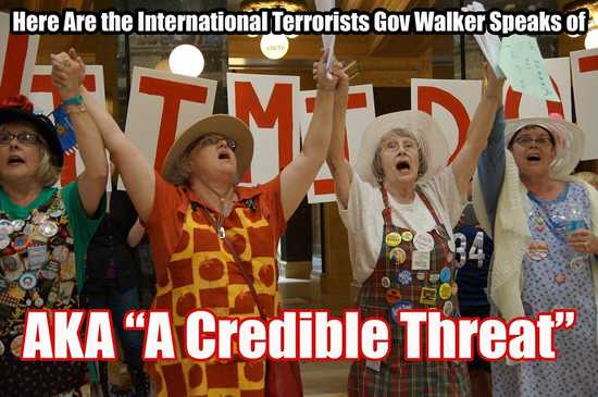 Walker's protesters