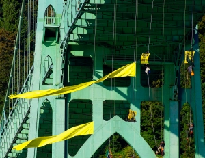 Bridge with yellow