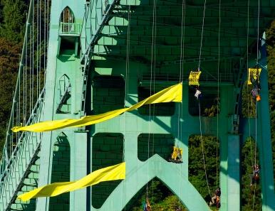 Bridge with yellow