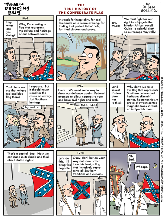 confederate flag cartoon