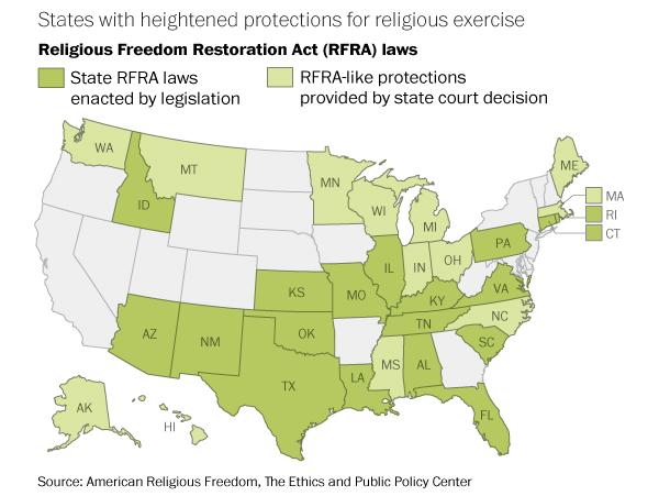 map religious freedom