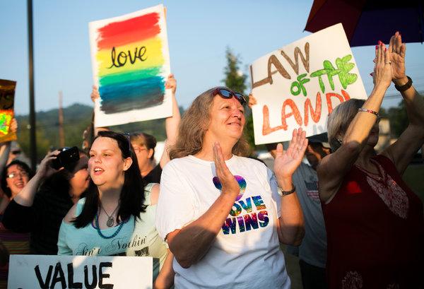 Rowan County LGBT supporters