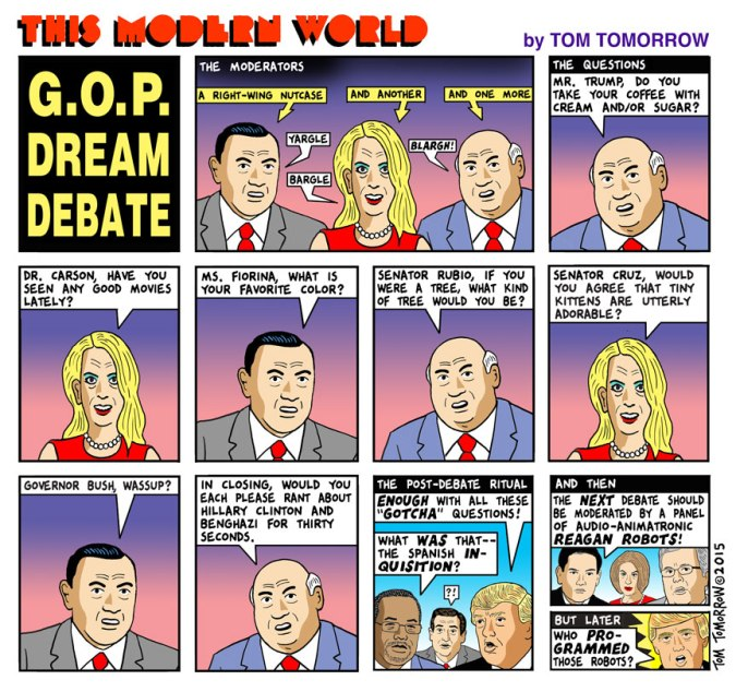 debate cartoon