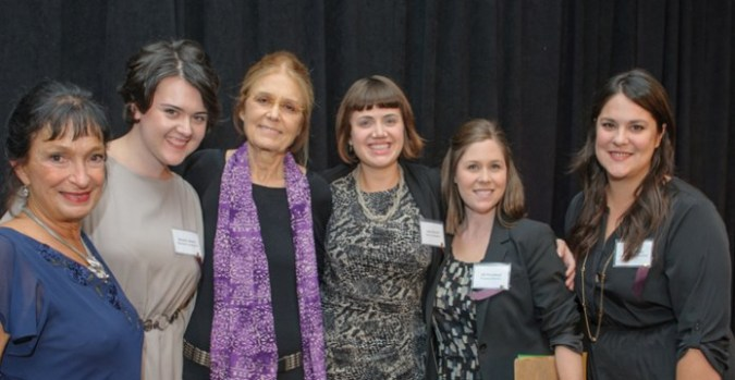 Michele Stranger-Hunter with Gloria Steinem