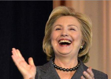 Image result for laughing hillary